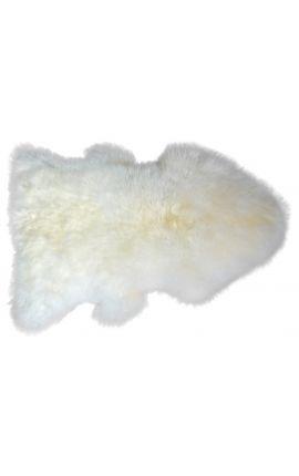 Tapis en vrai laine de mouton pour descente de lit
