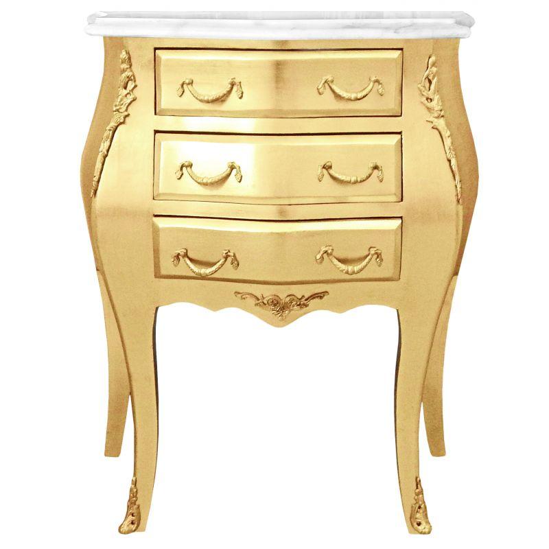 Table de nuit chevet commode baroque bois dor plateau - Table de nuit baroque ...
