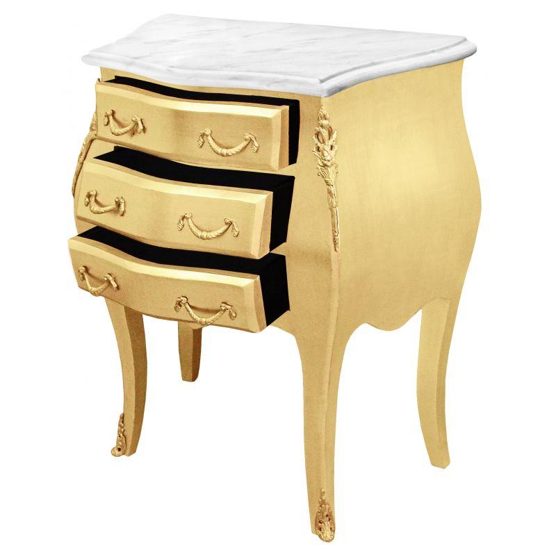 table de nuit chevet commode baroque bois dor plateau. Black Bedroom Furniture Sets. Home Design Ideas