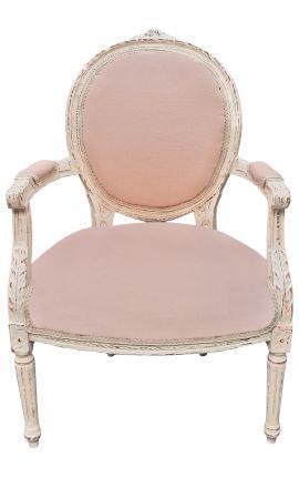 Louis XVI стиле кресло бежевый белье и выветривания древесины бежевый