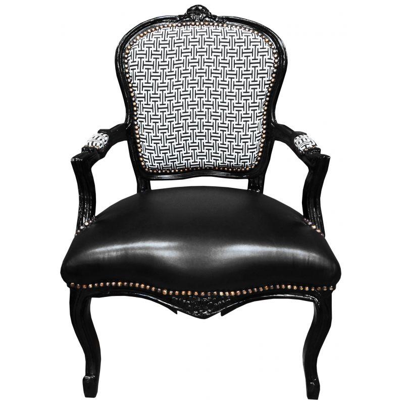 fauteuil baroque de style louis xv motifs g om trique et. Black Bedroom Furniture Sets. Home Design Ideas