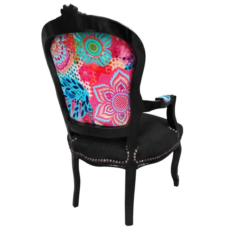 fauteuil baroque moderne finest fauteuil baroque de style louis xv velours rouge et bois noir. Black Bedroom Furniture Sets. Home Design Ideas