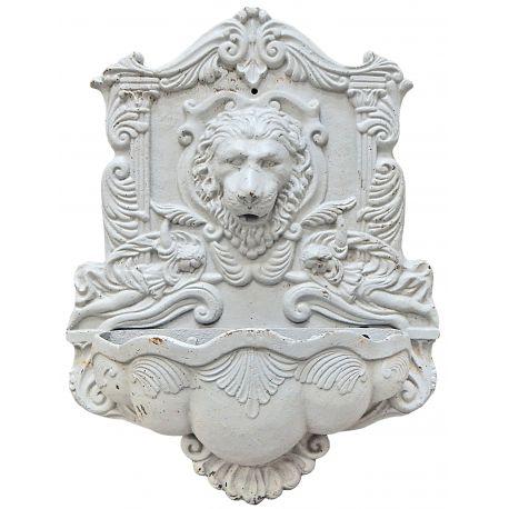 Fontaine T Te De Lion En Fonte De Couleur Blanche