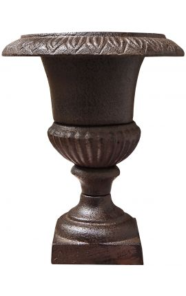Small Medici vase cast iron rust colored patina