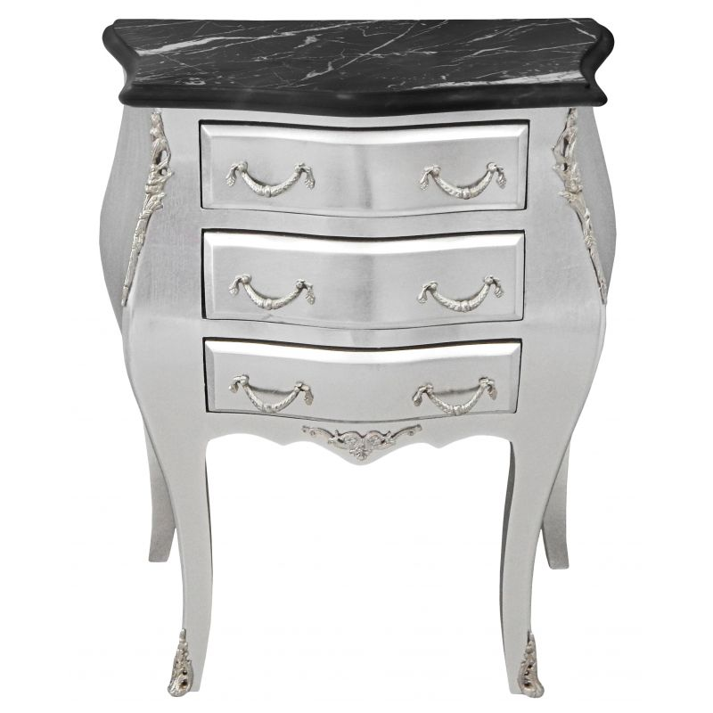 table de chevet fer forg noir cheap chevet table de nuit chevet tiroirs trio blanc noir. Black Bedroom Furniture Sets. Home Design Ideas