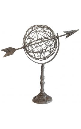 Decorative weathercock to put or fix arrow globe with wrought iron