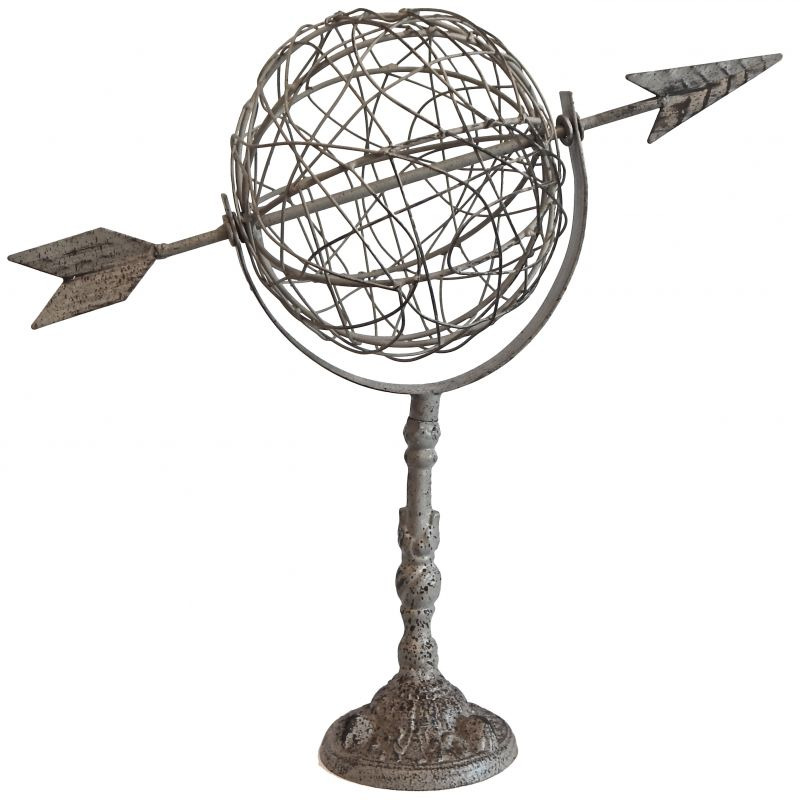 Decorative Weathercock To Put Or Fix Arrow Globe With