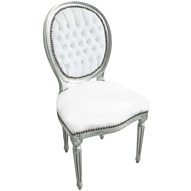 chaise simili cuir blanc maison design. Black Bedroom Furniture Sets. Home Design Ideas
