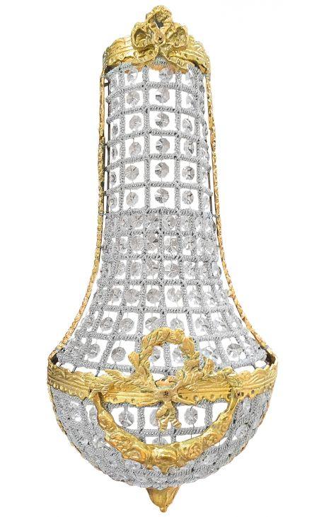 большой бра шар стекло с бронзовыми украшениями