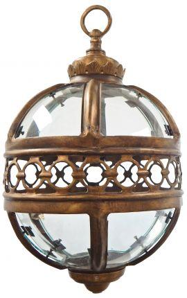 Lanterne ronde de hall d'entrée en bronze patiné 30 cm