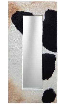 Grand miroir rectangulaire avec peau de vache