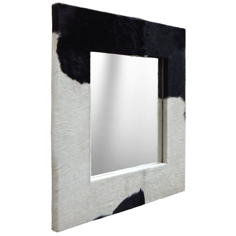 Large square mirror with genuine cowhide for Big square mirror