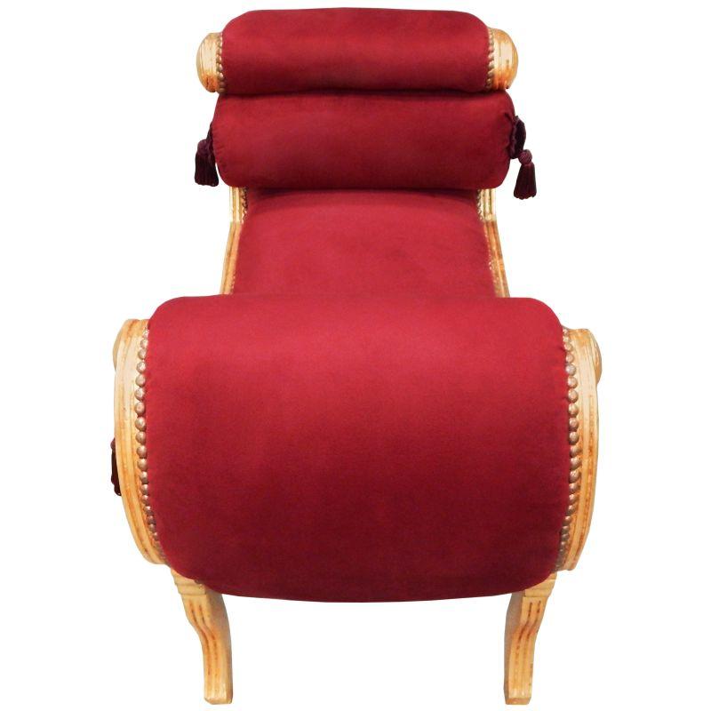 banquette romaine tissu velours bordeaux et bois dor. Black Bedroom Furniture Sets. Home Design Ideas
