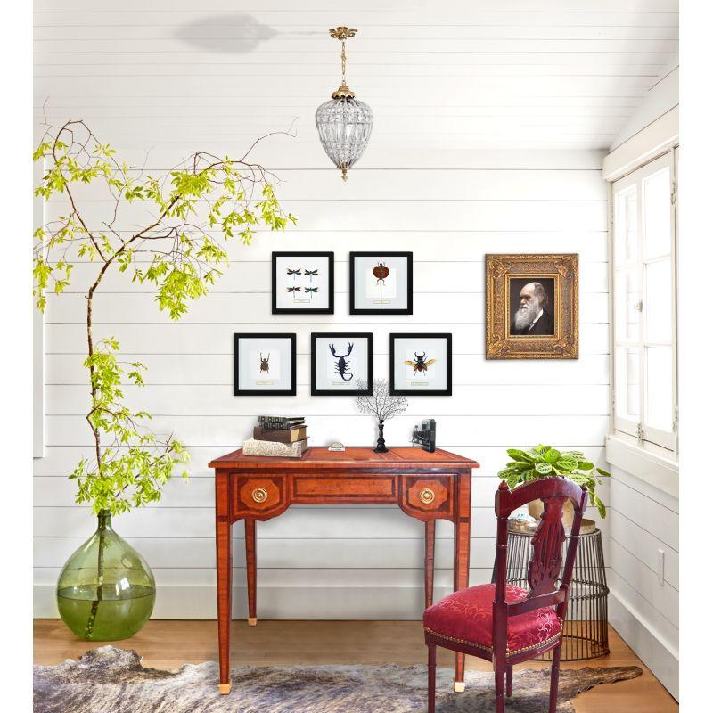 Bureau de style louis xvi avec marqueterie for Bureau style louis 13
