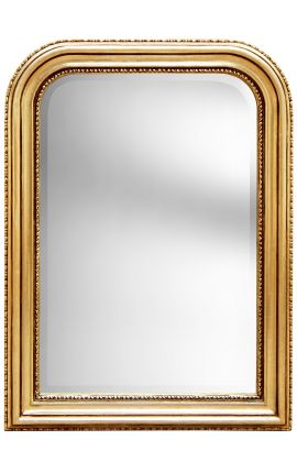 Louis Philippe style gilt mirror with beleved glass