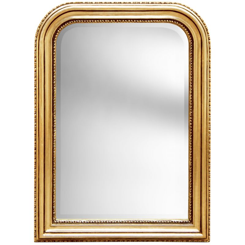 Mirror louis philippe style gilt bevelled mirror for Miroir style louis philippe