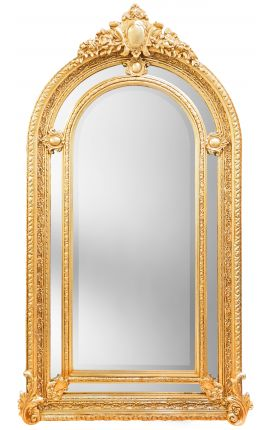Very large gilt baroque mirror in Napoleon III style
