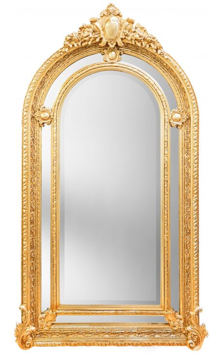 Tr s grand miroir baroque dor de style napol on iii for Grand miroir large