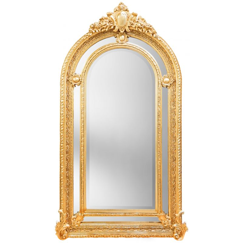Tr s grand miroir baroque dor de style napol on iii for Grand miroir baroque