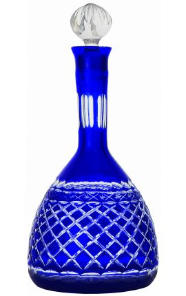 Blue decanter bohemian