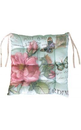 """Cushion for chair """"postcard"""" green 40 x 40"""