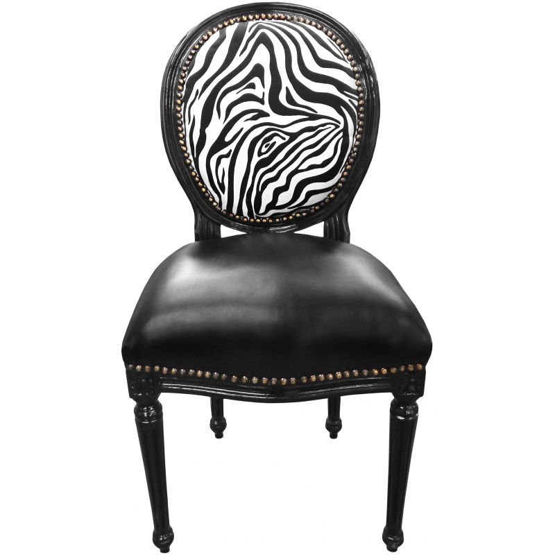 Chaise blanche et noir maison design for Chaise simili cuir blanche