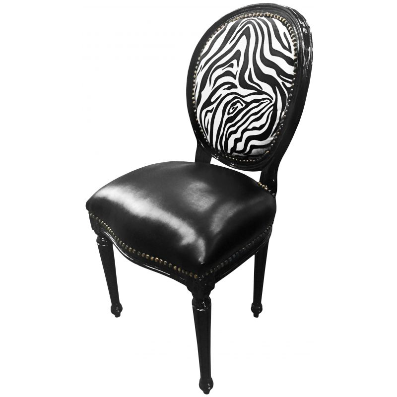 chaise zebre affordable galette chaise eames tissu chin with chaise zebre chaise foret hibou. Black Bedroom Furniture Sets. Home Design Ideas