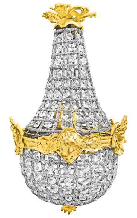 Люстра Montgolfiere бронзовую люстру из прозрачного стекла 50 cm