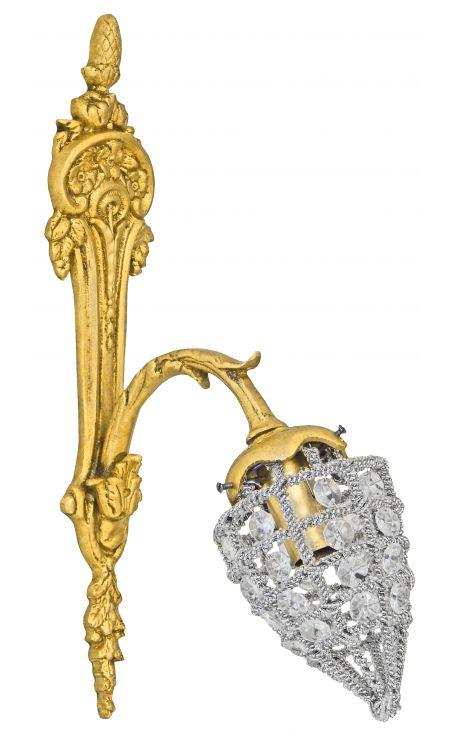 Applique en bronze à pampilles en verre