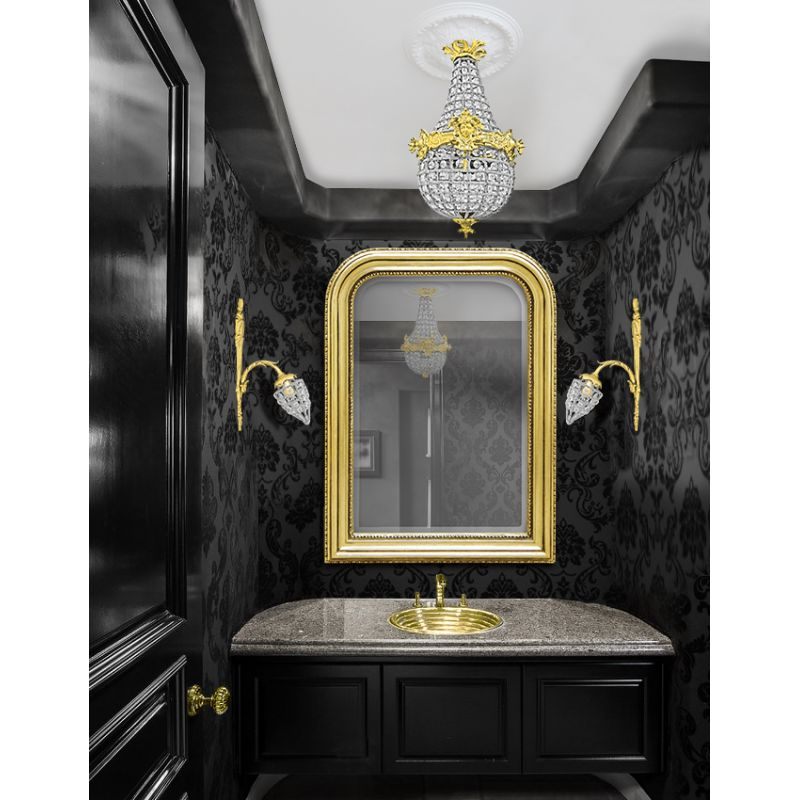miroir de style louis philippe dor et glace biseaut e. Black Bedroom Furniture Sets. Home Design Ideas