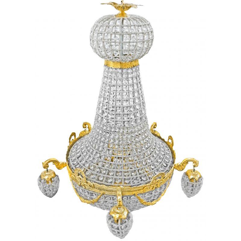montgolfiere chandelier in bronze with 5 sconces. Black Bedroom Furniture Sets. Home Design Ideas