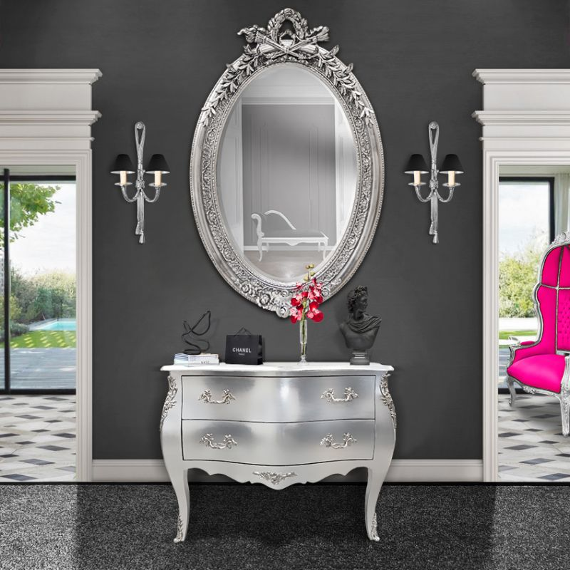 commode baroque de style louis xv argent e bronzes argent. Black Bedroom Furniture Sets. Home Design Ideas