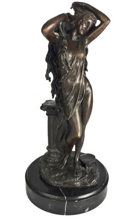 """Bronze sculpture and marble base, """"Aphrodite"""""""