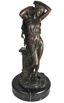 """Sculpture en bronze et socle en marbre, """"Aphrodite"""""""