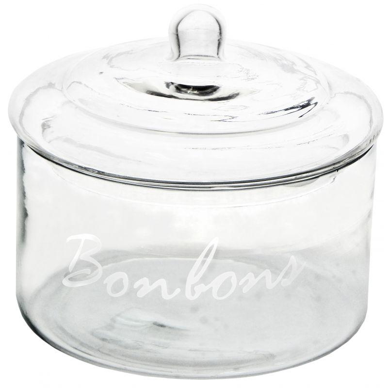 Glass Candy Jar With Lid Quot Bonbons Quot