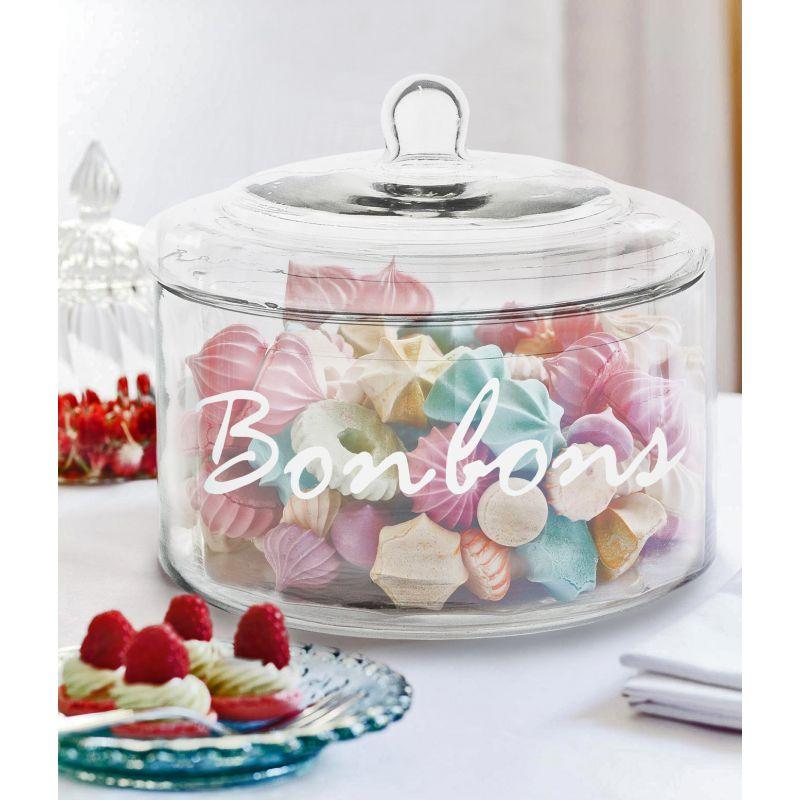 glass candy jar with lid bonbons. Black Bedroom Furniture Sets. Home Design Ideas