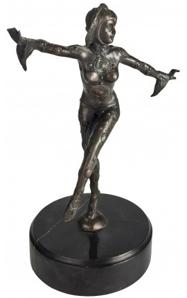 "Sculpture en bronze ""Danseuse Indienne"""