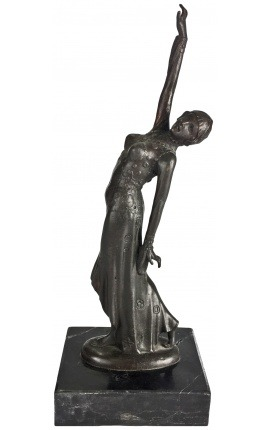 "Sculpture in bronze ""Indian dancer with arms outstretched"""