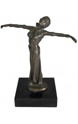 Бронзовая скульптура «Индийская танцовщица раскинув руки»