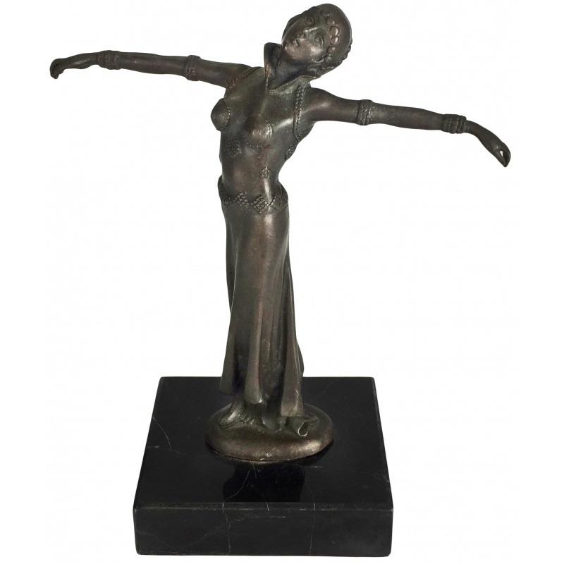 Sculpture In Bronze Quot Oriental Dancer Quot