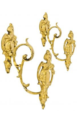 "Pair of bronze curtain holder ""Ribbon"""
