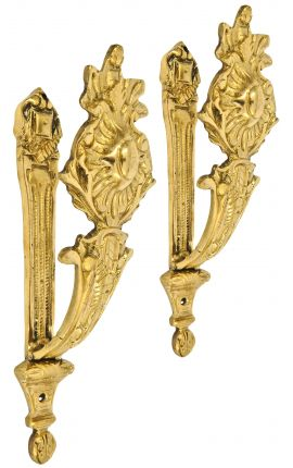 "Pair of bronze curtain holder ""Flower sun"""