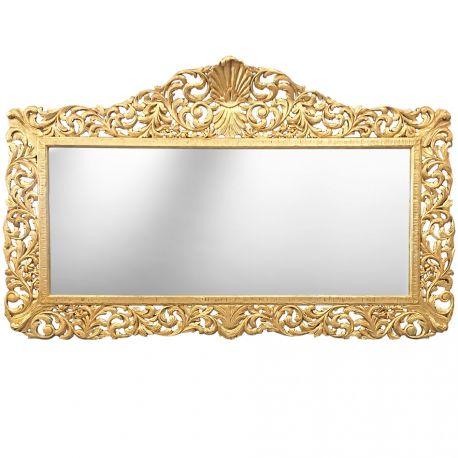 Enorme miroir de style baroque en bois dor for Miroir style baroque