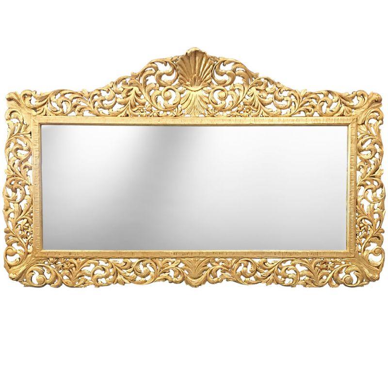 enorme miroir de style baroque en bois dor