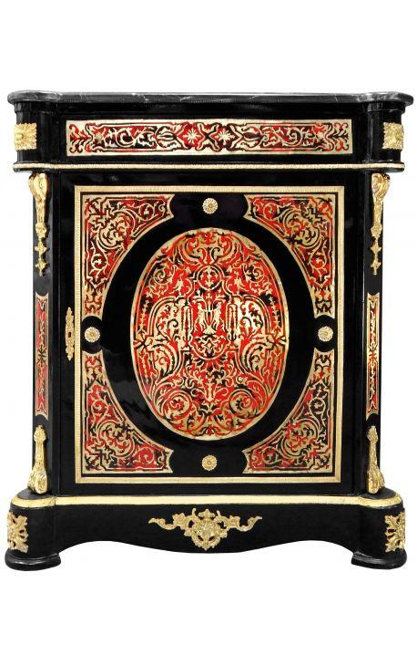 Buffet marqueterie Boulle de style Napoléon III marbre noir