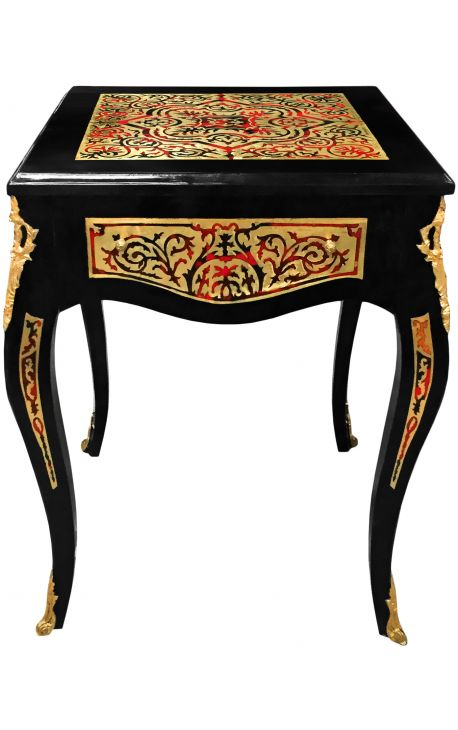 Table d'appoint marqueterie Boulle de style Napoléon III