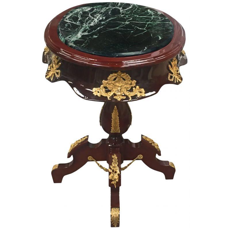 Table ovale de style empire bois acajou bronzes et marbre - Mobilier style empire ...