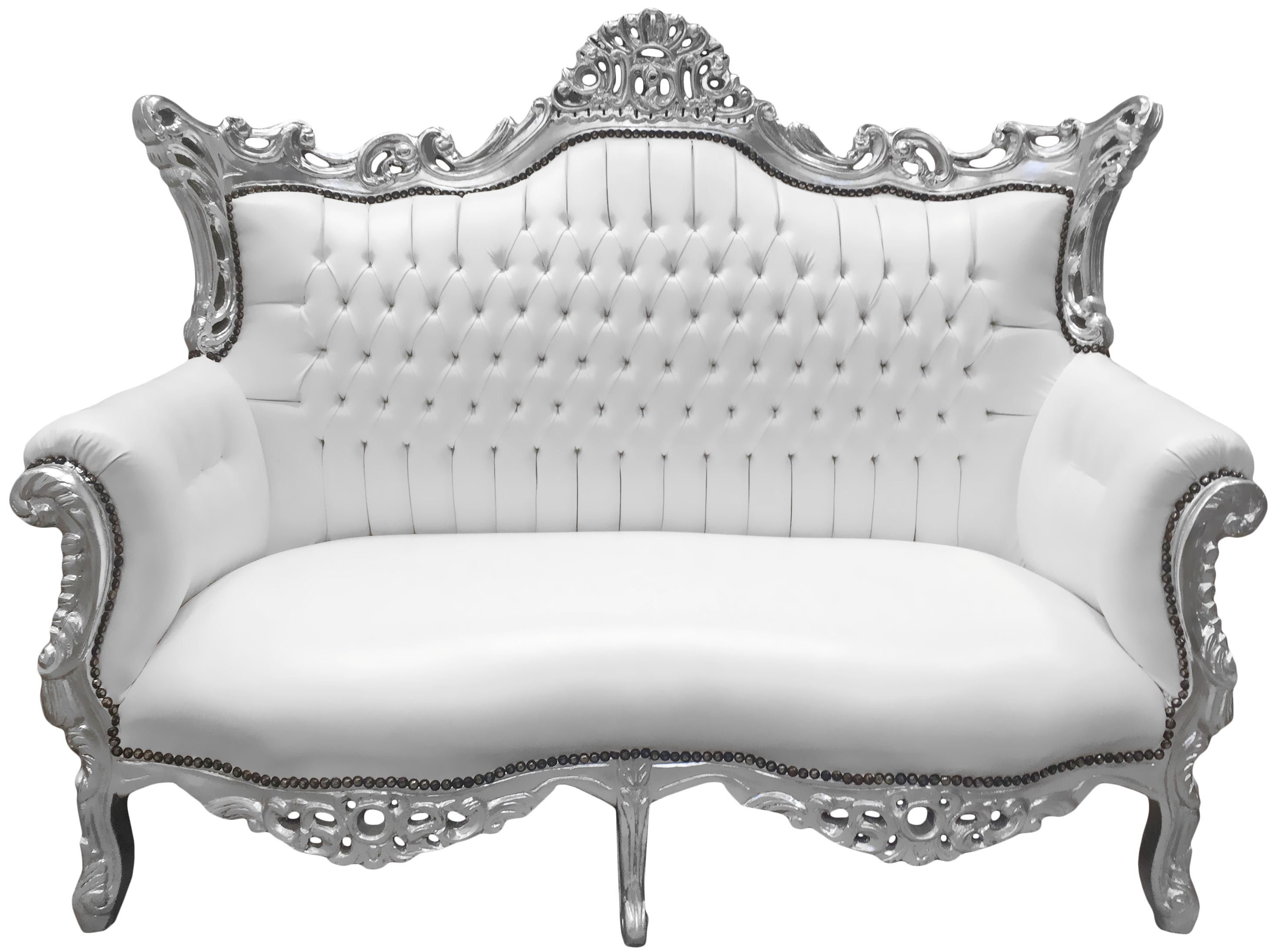 Giant Sofa Rococo Style Bench Royal Sofa Wood Baroque French Louis Xv Carved Furniture
