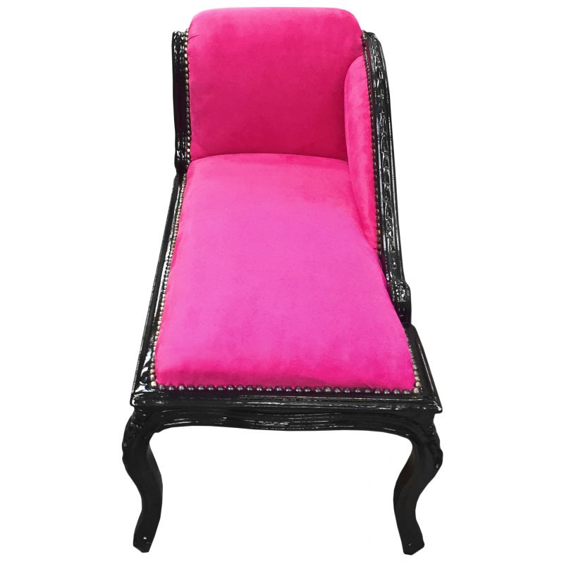 m ridienne de style louis xv tissu velours fuchsia et bois. Black Bedroom Furniture Sets. Home Design Ideas