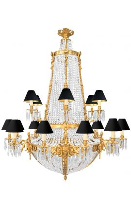 Very large Napoleon III style chandelier with 18 sconces